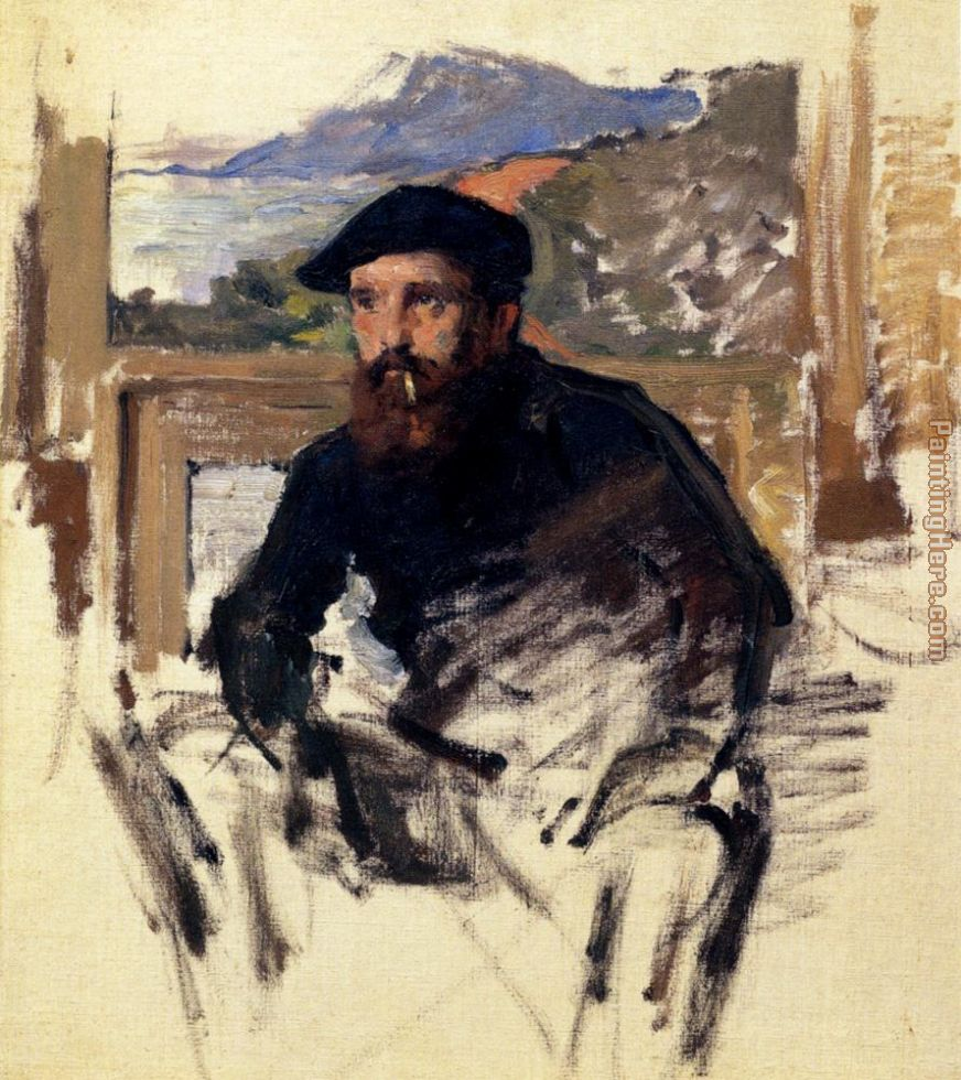 Monet_Self_Portrait_In_His_Atelier painting - Claude Monet Monet_Self_Portrait_In_His_Atelier art painting